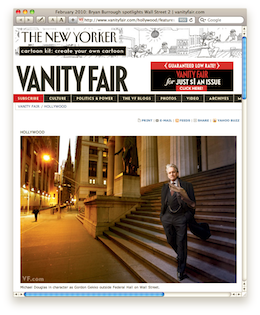 Vanity Fair – Features Wall Street 2 – The Return of Gordon Gekko